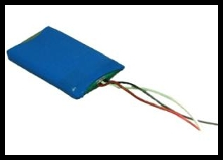 LP503759 1100mAh 4,1 Wh Li-Polymer 3,7 V 5,0 x 37,5 x 59,0 mm + PCM