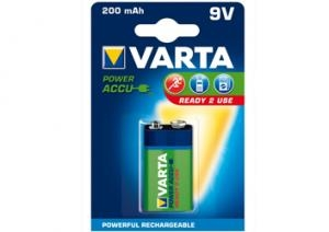 9V 6F22 6LR61 200mAh baterie Varta ready2Use